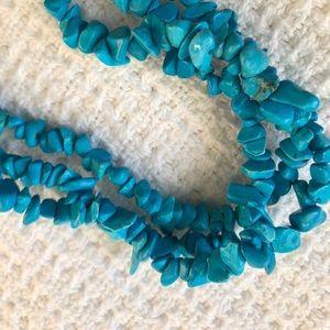 Blue necklace semi precious stones